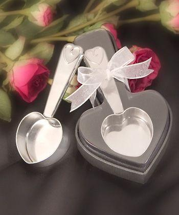 Mariage - Heart Shaped Stainless Steel Coffee Scoops