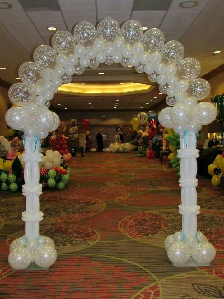 Wedding theme balloon arches canopies 2251605 weddbook for Balloon decoration for weddings