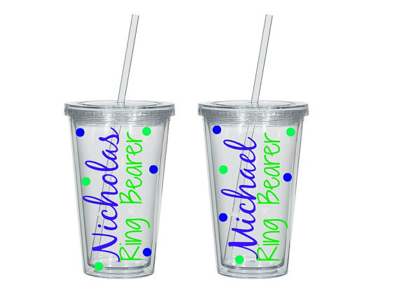 Mariage - 1 Ring Bearer Personalized Wedding Tumbler - Ring Bearer Gift, Ring Bearer Tumbler, Ring Bearer Cup, Ring Security