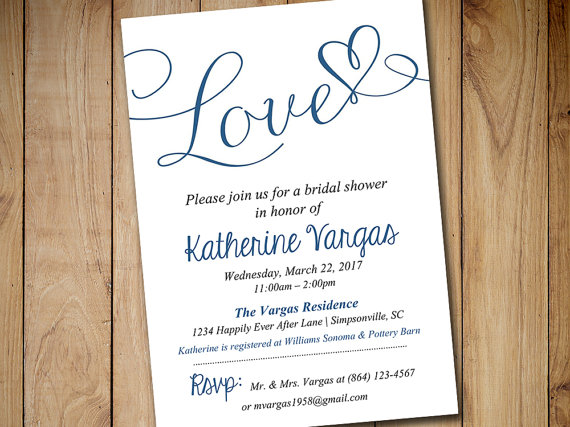 Bridal Shower Invitation Template - Wedding Shower Invitation ...