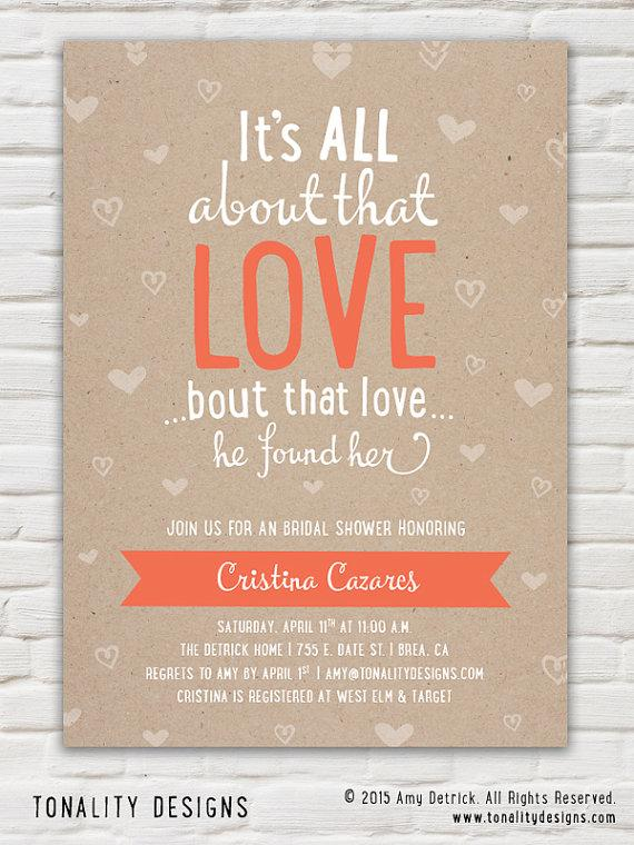 bridal shower invitationkraft paper bridal shower inviteall about that loveheartsarrows diy printable pdf invite
