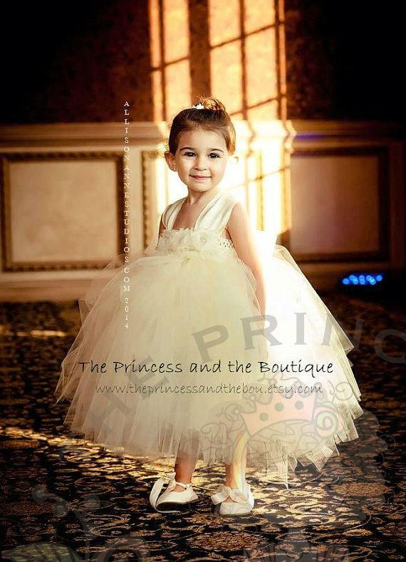 85eaf05fe43 Ivory Flower Girl Dress