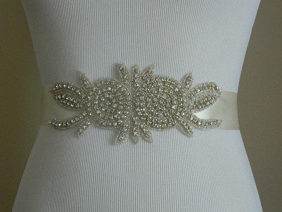Mariage - Wedding Belt, Bridal Belt, Sash Belt, Crystal Rhinestone Sash