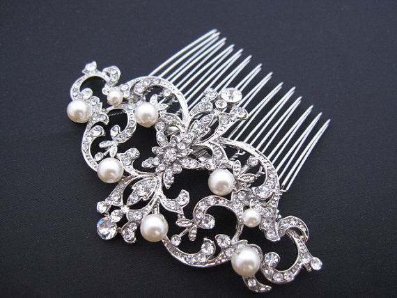 Mariage - wedding hair accessories,bridal hair accessories,pearl bridal comb,bridal hair piece,wedding hair comb,wedding hair piece,bridal hair comb