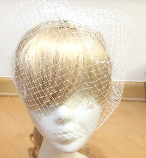 Hochzeit - White Bridcage Veil, Off white Bridcage Veil, Wedding Bridal Brides Birdcage Bird Cage Veil, Net Veil