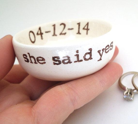 4469ebc27dab5 PERSONALIZED RING DISH Engagement Gift Wedding Gift Idea Bridal ...
