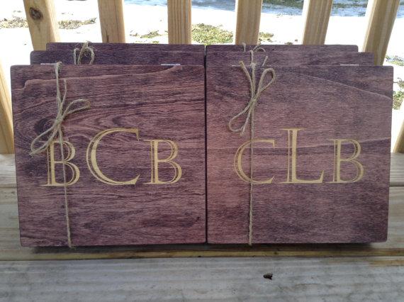 زفاف - Wooden Cigar Box with Felt SET OF 6 Rustic Wedding Personalized Groomsmen/Best Man Gift Box