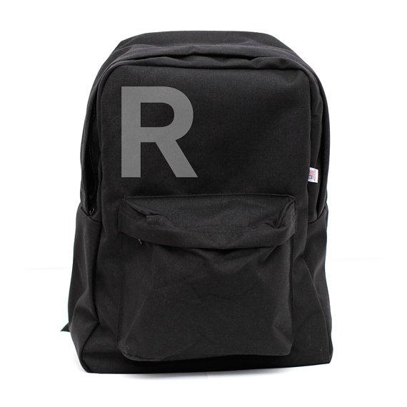 Mariage - Backpack: Helvetica Monogram Backpack, Monogram Bag, Personalized Groomsmen Gift, Men's Backpack, Women's Backpack, Rucksack, Initial