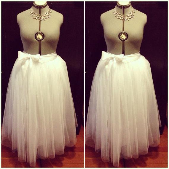 4558a194a32 Plus Size Floor Length Adult Tulle Bridal Tutu Skirt with Satin Ribbon Sash  Customize Your Colors Vintage Retro Ballet