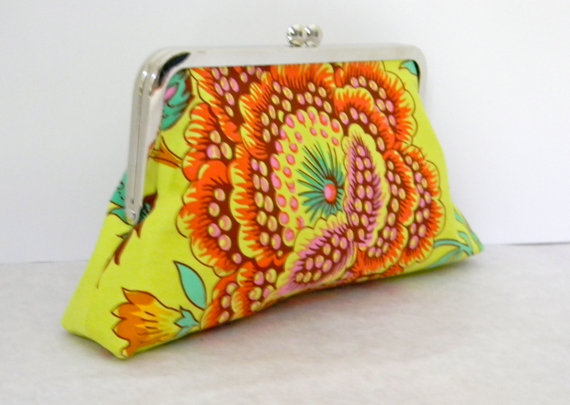 Mariage - Bright Sunny Clutch, Purse, Handbag, Pouch, for Wedding, Bride, Bridesmaid, Honeymoon, Special Occassion