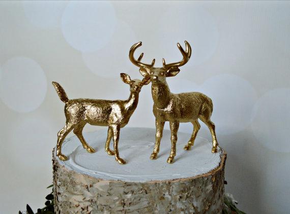 Deer Grooms Cake Topper