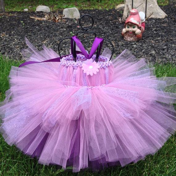 Hochzeit - Plum rose sparkle tutu dress baby to toddler flower girl dress Birthdays, Special Occasion, Princess Party Dress, flower girl