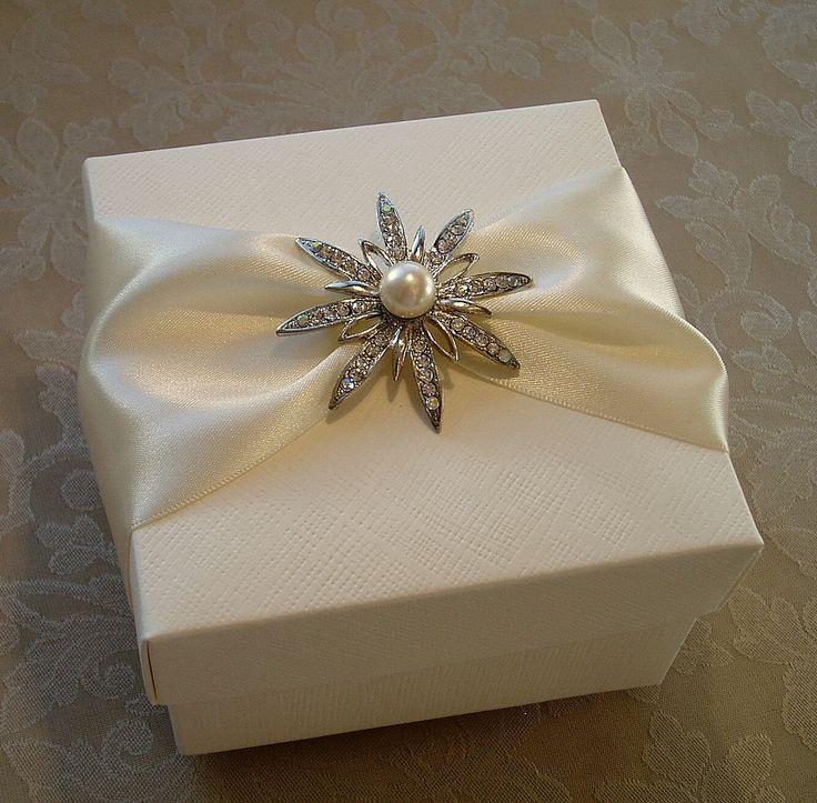 Decorated Gift Box New Timeless Pearl And Diamante Star Decorated Gift Boxbespoke Design Inspiration