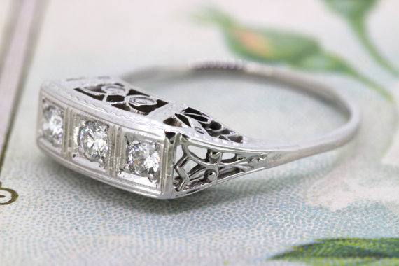 Wedding - Art Deco Ring