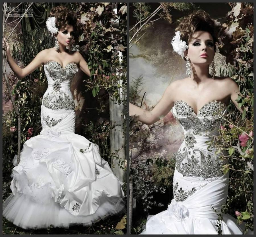 Gorgeous Mermaid Wedding Dresses : New gorgeous crystal hot sexy elegent sweetheart