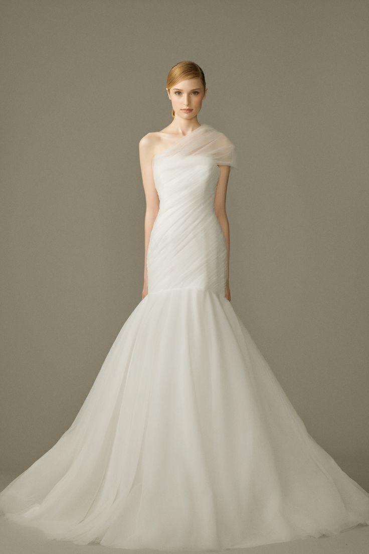 One shoulder strap wedding dress inspiration 2252227 for Wedding dresses one strap