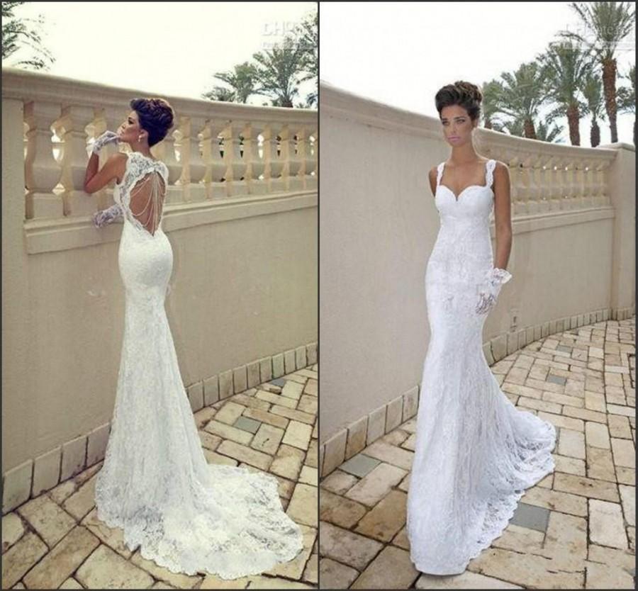 1822c113b9 Galia Lahav Vintage Mermaid Sweetheart Backless White Sheer Beads ...