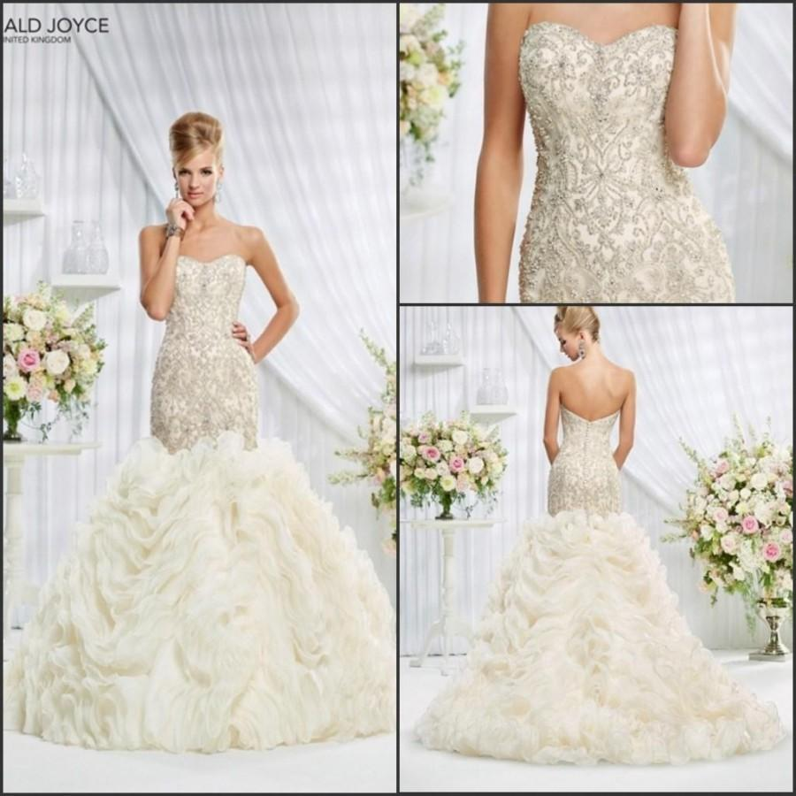 Gorgeous 2015 mermaid ruffles veni infantino wedding for Mermaid wedding dress with ruffles