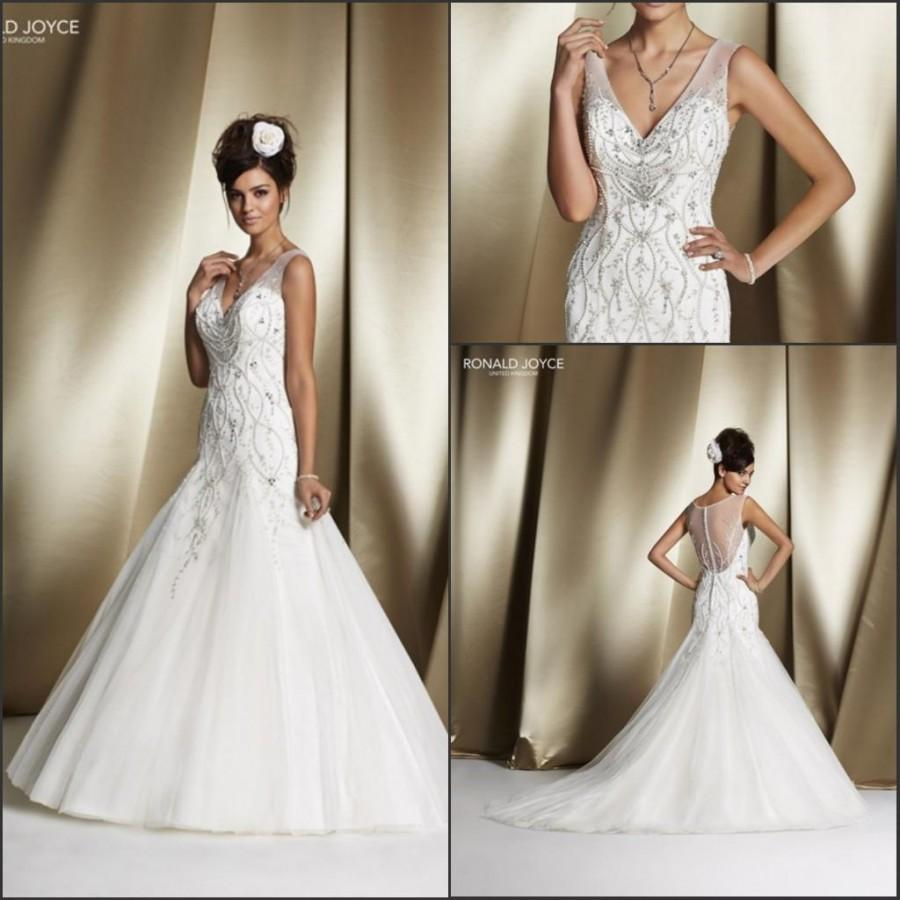 Charming Mermaid Veni Infantino 2017 Wedding Dresses With Lace Sheer Beads Sequins V Neck Tulle On Sweep Train Bridal Gowns Custom Made Online
