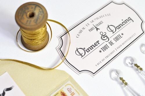 Wedding - Parisian Wedding Invitation Inspiration