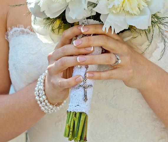 Wedding - Bridal Bracelet Cuff, Bridal Pearl Cuff Bracelet, Multi Strand Pearl Bracelet, Swarovski Bridal Jewelry