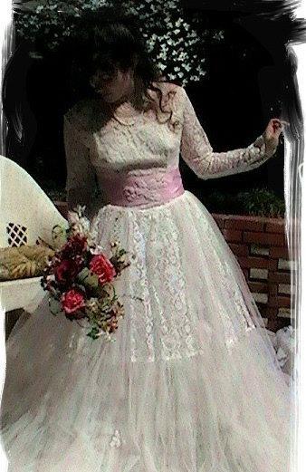 Sale Vintage Wedding Dress Altered Couture Wedding Dress 1950s Wedding Dress Fantasy Wedding Cupcake Wedding Gown Bertha Louise Designs 2252461 Weddbook