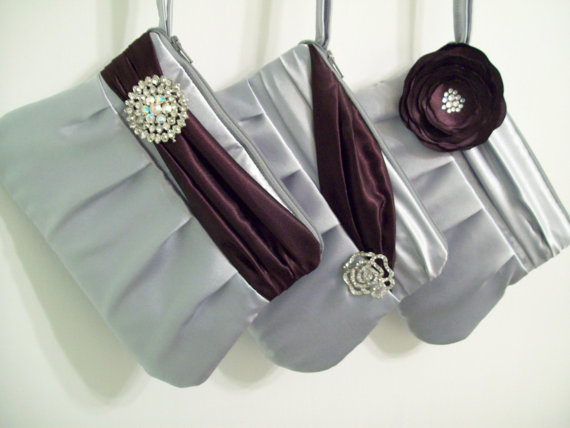 Hochzeit - Sophia clutch w/choice of detail-Monogramming available, bridesmaids clutches, bridesmaids gifts, wedding party bags, purses