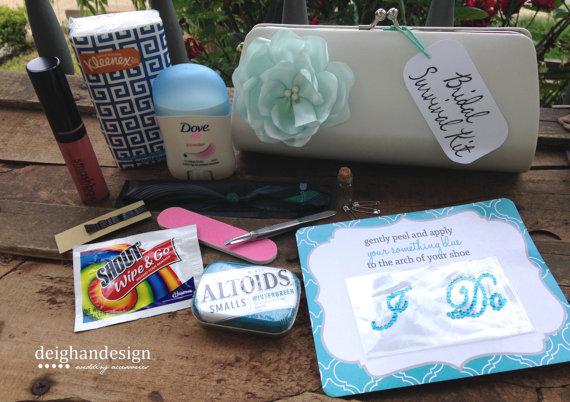Wedding Day Survival Kit For The Bride - Bridal Kit, Bride ...