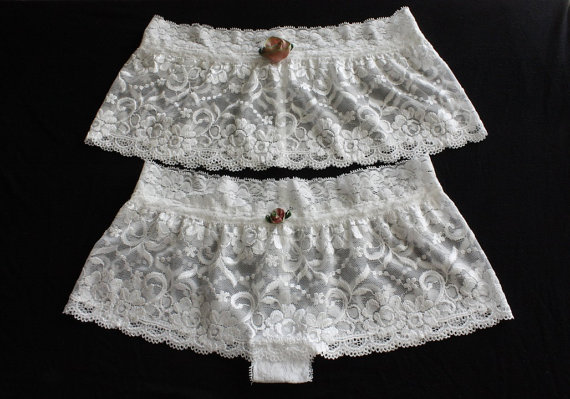 Свадьба - Off White Bridal Lace Cover Lace Pantie Bridal Pantie Lingerie Pantie Set