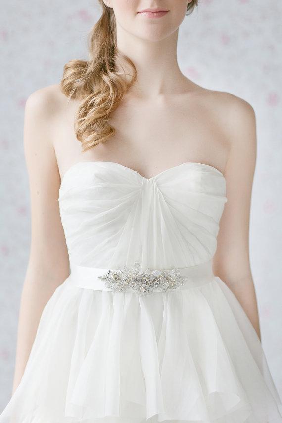 Wedding Dress Sash Bridal Lace Belt Crystals And Pearls Bridal ...