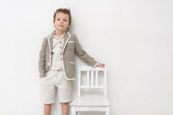 Boys clothing boys natural linen blazer toddler boy jacket for Boys dress clothes wedding