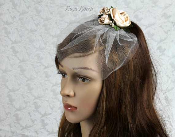 Свадьба - Short Veil, Bridal Veil Short, Vintage Wedding Veil, Wedding Veil Short