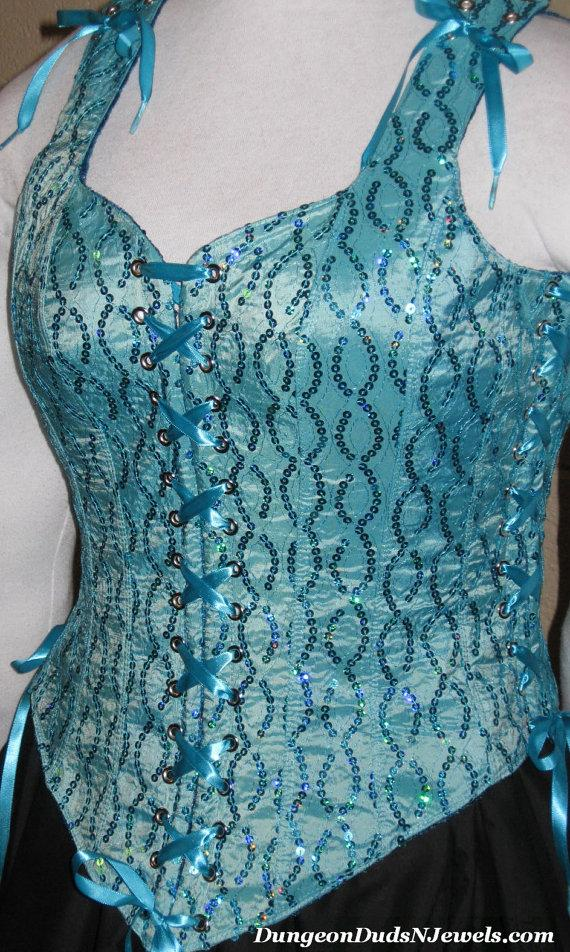 Wedding - DDNJ Choose Fabric Reversible Bodice Style Corset Plus Custom Made ANY Size Renaissance Fairy Pirate Prom Wedding Anime Cosplay Medieval