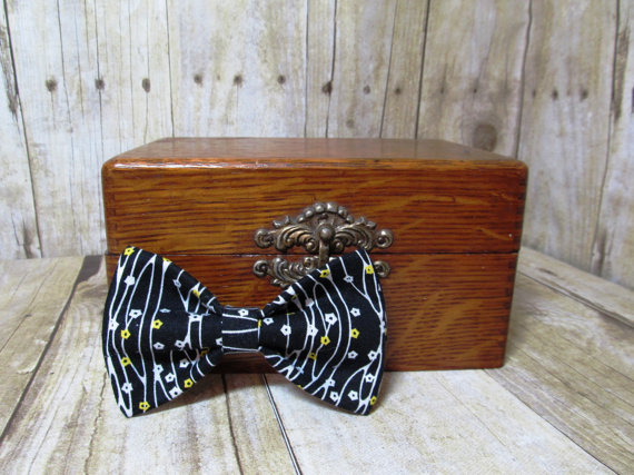 Свадьба - Black Branches and Flowers Bow Tie, Clip, Headband or Pet