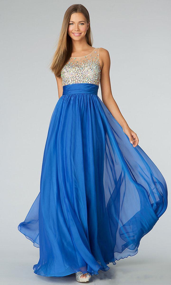 Красивые синие вечерние платья