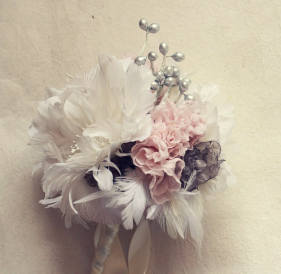 Feather Flower Bouquet Tutorial, How To Make Bouquets, Diy Bouquet ...
