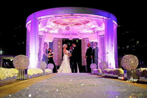 sequin aisle runner 40 wide x choose your length vintage wedding
