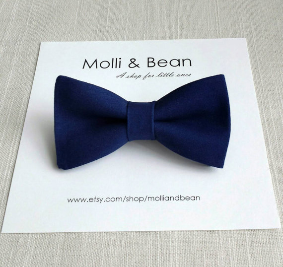 زفاف - The Everett ~ Baby, Newborn, Toddler, Boys bow tie, Wedding bow tie, Ring bearer bow tie, Kids bow tie, Navy bowtie, Mens tie, Easter bowtie