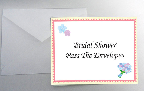Mariage - INSTANT DOWNLOAD Pass the Envelopes Bridal Shower Game Icebreaker Wedding Party