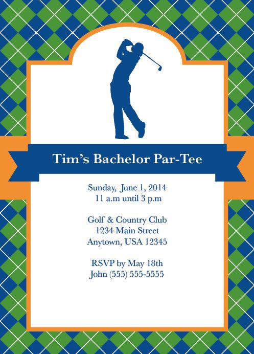 Golf Party Golf Invite Mens Bachelor Party Party For Him – Golf Party Invites