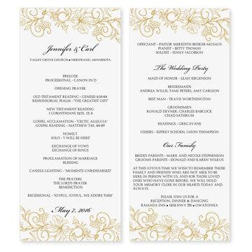 wedding program microsoft word free wedding programs templates - Free Wedding Program Templates Word