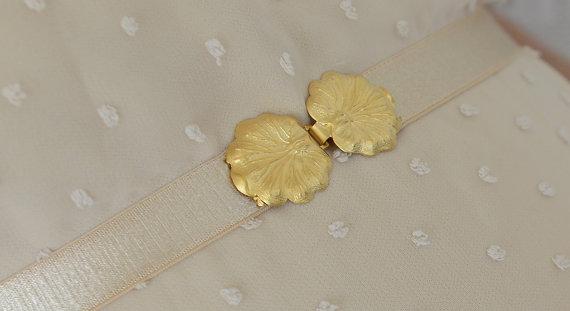 Mariage - Nude Waist Belt - Gold Buckle - Nude Belt - Wedding Accessory - Bridesmaids Belt - Stretch Belt - Sash Belt - Pink Belt