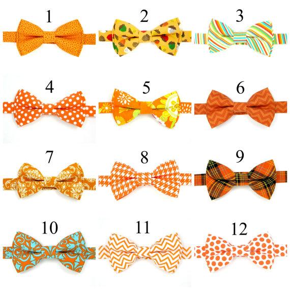 زفاف - Baby bow tie, Boys bow tie, Men bow tie, Wedding bow ties,Orange bow tie, Ring bearer bow tie, Pre-Tied Bow tie
