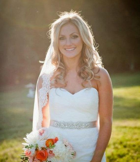 Mariage - Wedding Sash - Rhinestone + Pearl Sash - Prom Sash - FLORIDA - BEST SELLER