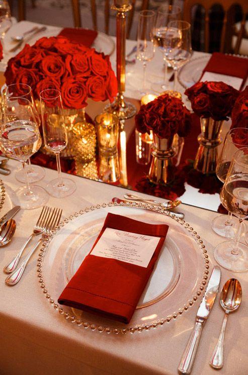 Wedding Theme Regal Red Gold Wedding 2253796 Weddbook
