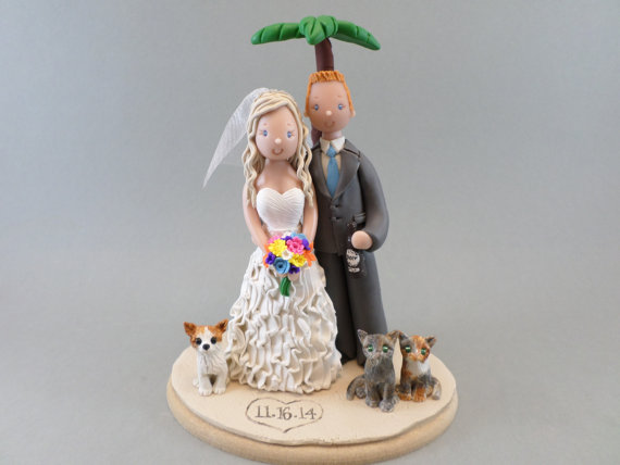 Personalized Outdoor Beach Theme Wedding Cake Topper 2253961