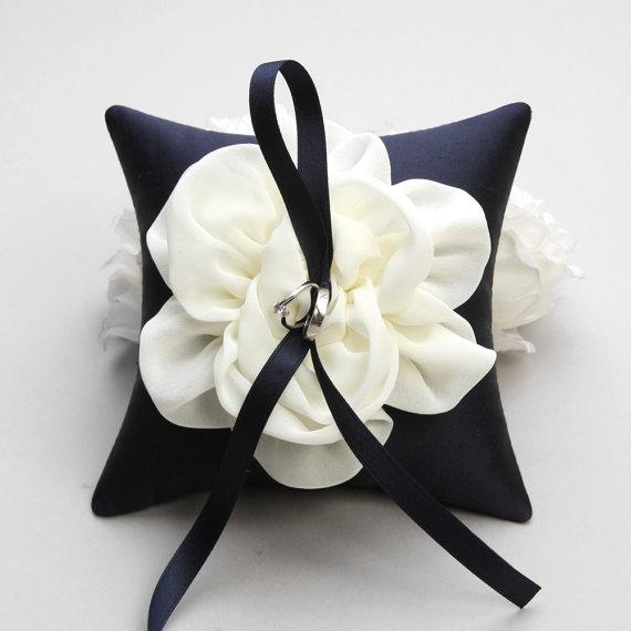 زفاف - Ring pillow, bridal ring pillow, flower ring pillow, wedding - Adina