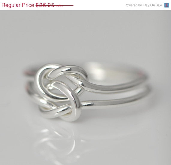 Свадьба - Wedding Sale Love Knot Ring - Silver Love Knot - Stacker Ring - Thumb Ring - Promise Ring - Argentium Sterling Silver - Bridesmaid Jewelry