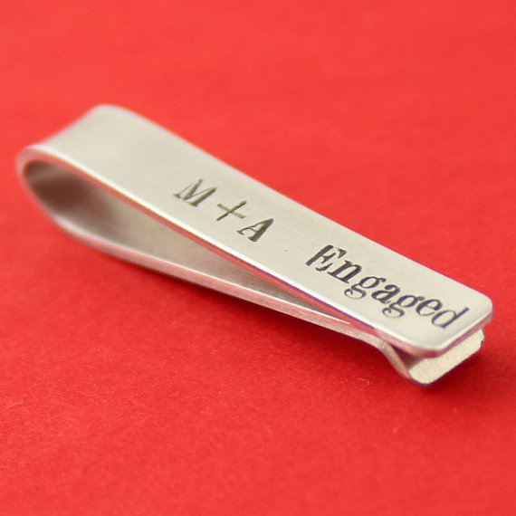 a8c6061482b6 Custom Skinny Tie Bar - Personalized Tie Clip - Perfect Groomsmen Gift -  Father's Day