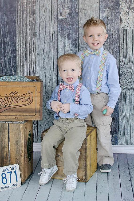 6193f87db0a0 Little Boys Adjustable Suspenders - Toddler Suspenders, Cute for Weddings,  Cake Smashing, Easter, Suspender & Bow Tie Set Also Available